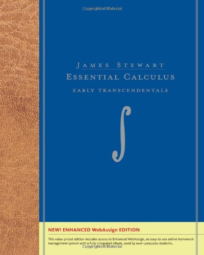 Essential Calculus Early Transcendentals, Enhanced Edition (with Enhanced WebAssign with eBook Printed Access Card for Multi Term Math and Science)  2011 edition cover