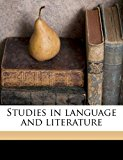 Studies in Language and Literature  N/A edition cover