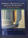 ANDERSON'S BUS.LAW+LEGAL ENVIR N/A 9781285141398 Front Cover