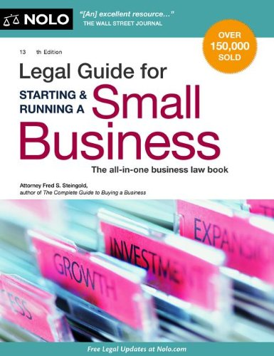 Legal Guide for Starting and Running a Small Business  13th edition cover