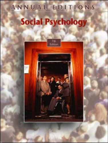 Social Psychology  7th 2008 (Revised) edition cover
