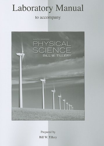 Lab Manual for Physical Science  9th 2012 9780077344399 Front Cover