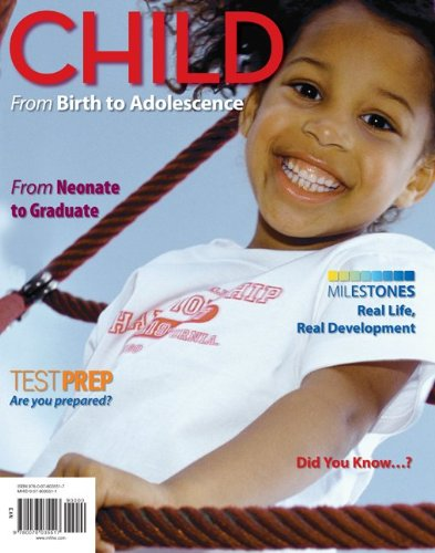 Child - From Birth to Adolescence   2013 edition cover