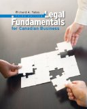 Legal Fundamentals for Canadian Business  3rd 2013 9780132164399 Front Cover