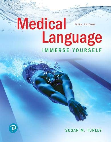 Medical Language: Immerse Yourself  2019 9780134988399 Front Cover
