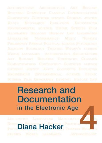 Research and Documentation in the Electronic Age 4th 2006 9780312443399 Front Cover