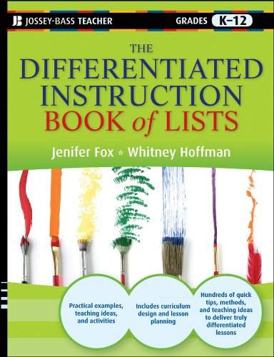 Differentiated Instruction Book of Lists   2011 edition cover
