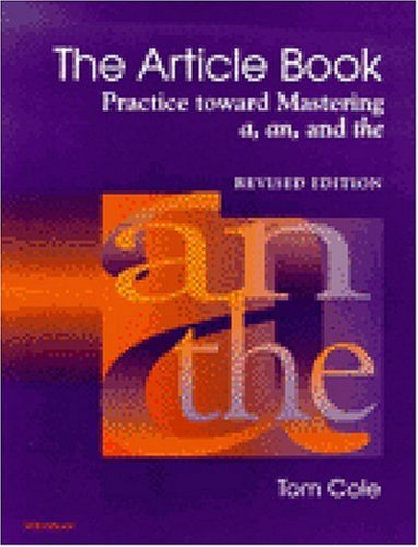 Article Book Practice Toward Mastering a, an and The  2000 (Revised) edition cover
