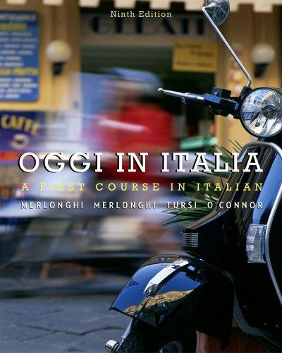 Oggi in Italia A First Course in Italian 9th 2012 edition cover