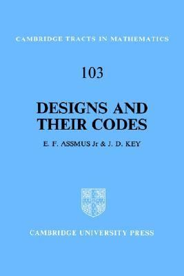 Designs and Their Codes  N/A 9780521458399 Front Cover