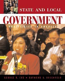 State and Local Government Pubic Life in America  2001 9780534555399 Front Cover