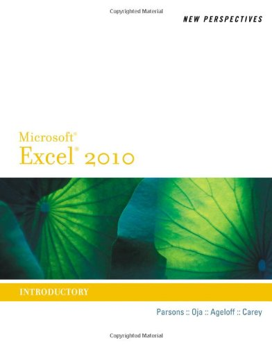 Microsoft� Office Excel� 2010 Introductory  2011 edition cover
