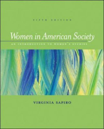 Women in American Society An Introduction to Women's Studies 5th 2003 (Revised) edition cover