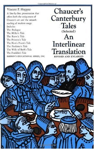 Canterbury Tales An Interlinear Translation 2nd 1977 edition cover