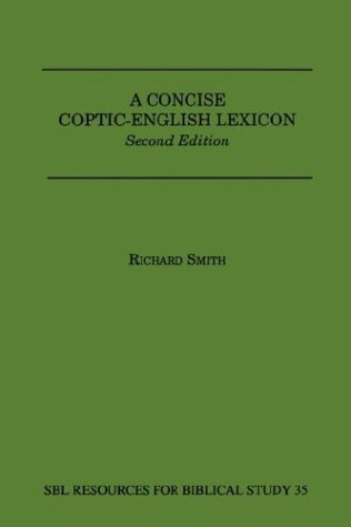 Concise Coptic-English Lexicon : Second 2nd 1999 edition cover