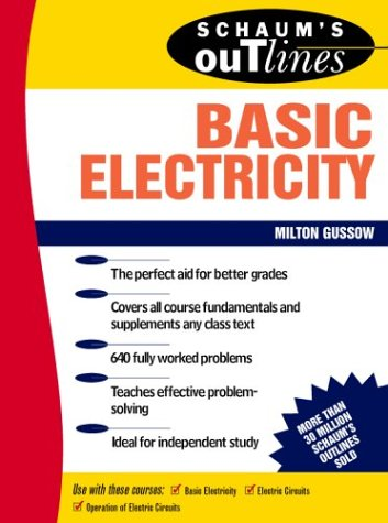Schaum's Outline of Basic Electricity   1983 9780070252400 Front Cover