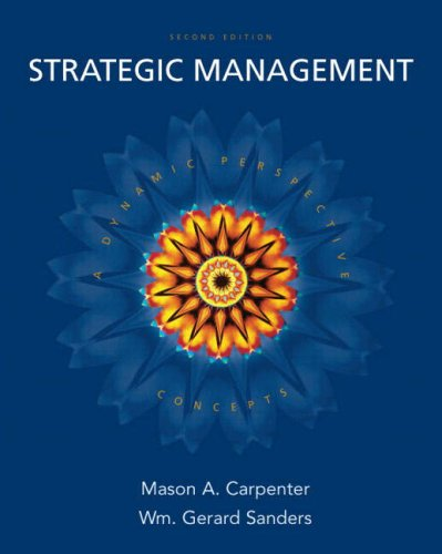 Strategic Management Concepts 2nd 2009 edition cover