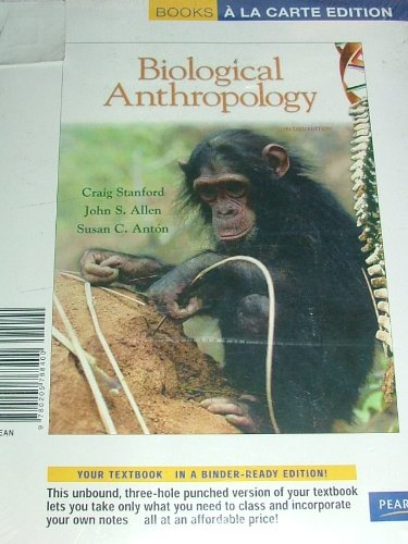 Biological Anthropology 2nd 2009 9780205768400 Front Cover