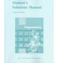 Student Solutions Manual for Trigonometry  9th 2009 edition cover