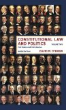 Constitutional Law and Politics Civil Rights and Civil Liberties 9th 2014 edition cover