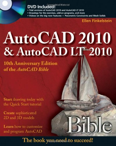 AutoCAD 2010 and AutoCAD LT 2010   2009 edition cover