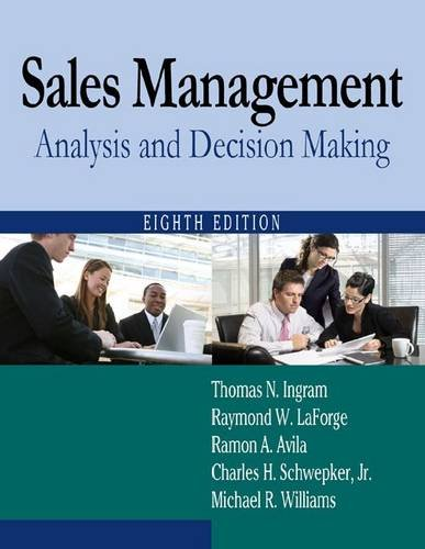 Sales Management Analysis and Decision Making 8th 2012 (Revised) edition cover