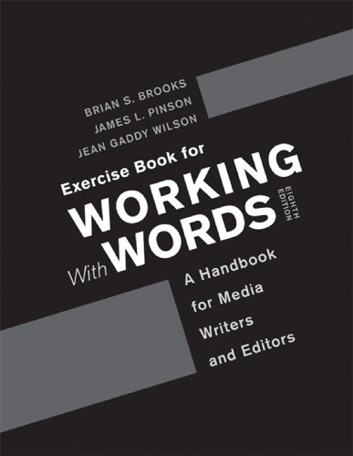 Exercise Book for Working with Words  8th 2013 edition cover