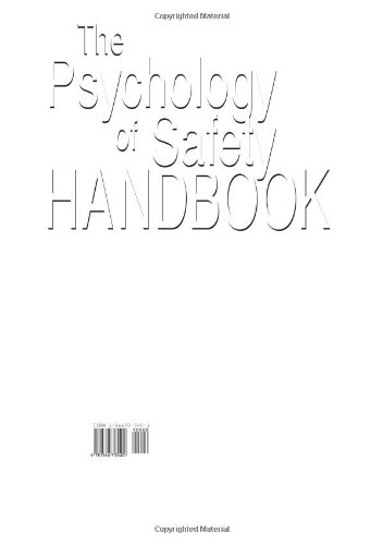 Psychology of Safety Handbook  2nd 2000 (Revised) edition cover