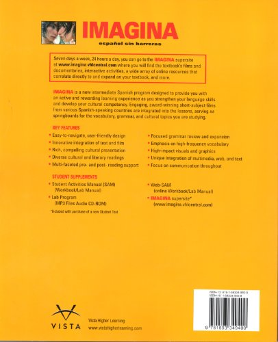 Imagina Student Edition w/Supersite Passcode Espanol Sin Barreras - Curso Intermedio de Lengua Espanola  2007 (Student Manual, Study Guide, etc.) edition cover