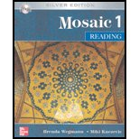 Mosaic 1 Reading Student Book w/ Audio Highlights Silver Edition 5th 2007 9780073337401 Front Cover