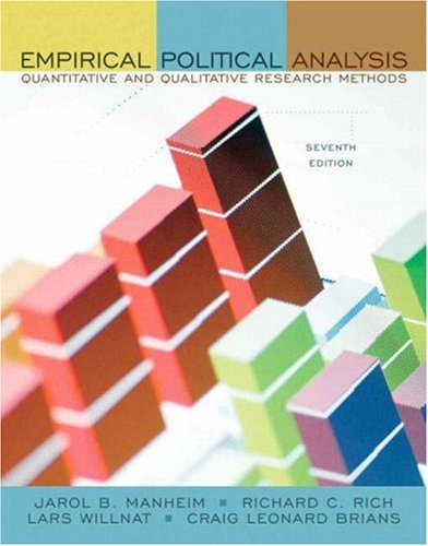 Empirical Political Analysis Quantitative and Qualitative Research Methods 7th 2008 edition cover