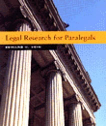 Legal Research for Paralegals 1st 9780314067401 Front Cover