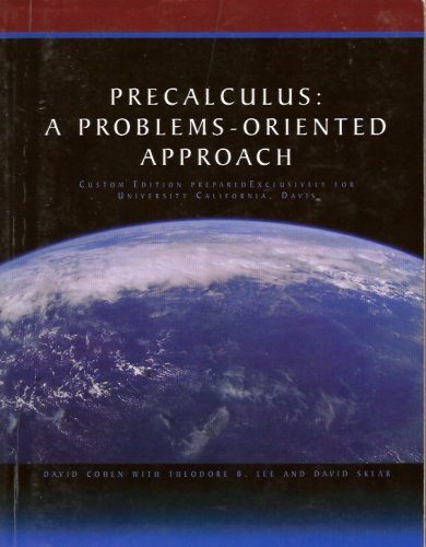 PRECALCULUS:PROB.-ORIENTED APP N/A 9780495078401 Front Cover