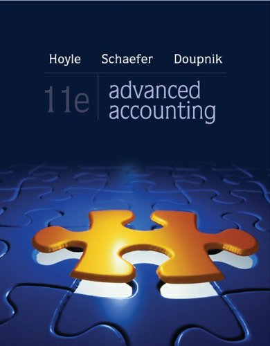 Advanced Accounting  11th 2013 edition cover