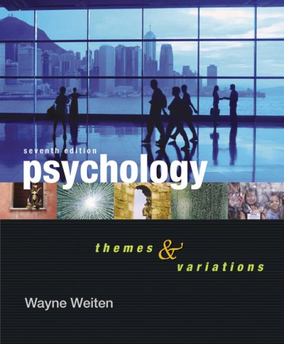 Psychology Themes and Variations 7th 2007 (Revised) 9780495170402 Front Cover
