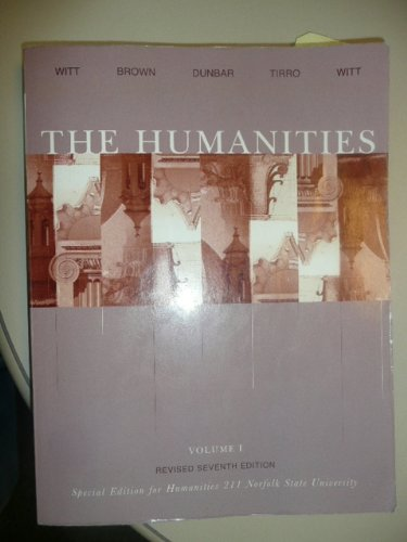 HUMANITIES,V.1 >CUSTOM< N/A 9780618735402 Front Cover