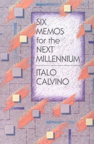 Six Memos for the Next Millennium   1988 edition cover