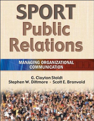 Sport Public Relations Managing Organizational Communication  2006 edition cover