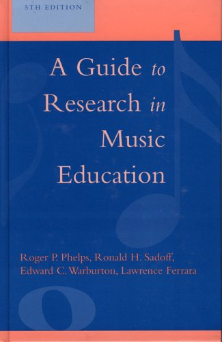Guide to Research in Music Education  5th 2005 (Revised) edition cover