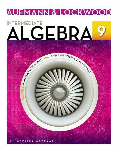 Intermediate Algebra An Applied Approach 9th 2014 edition cover