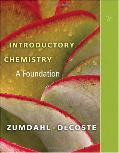 Introductory Chemistry A Foundation 7th 2011 edition cover