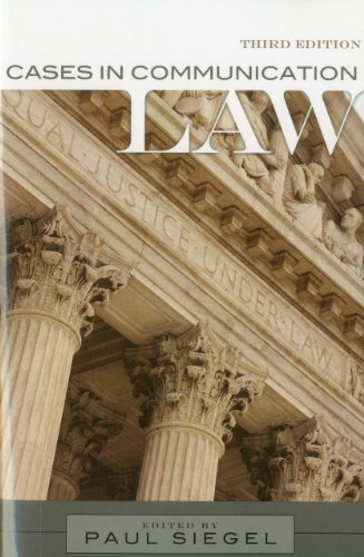 Cases in Communication Law  3rd 2011 (Revised) edition cover