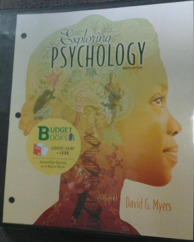 Exploring Psychology (Loose Leaf)  9th 2014 edition cover