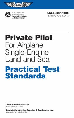 Private Pilot for Airplane Single-Engine Land and Sea  N/A edition cover