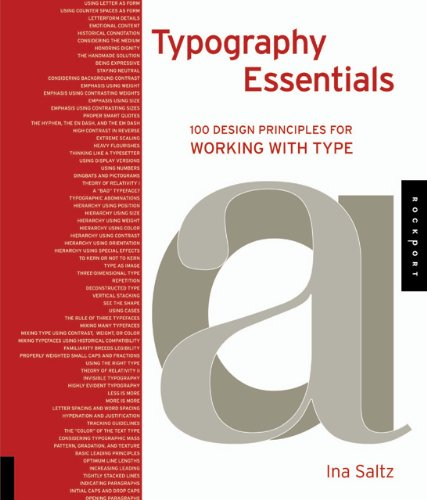 Typography Essentials 100 Design Principles for Working with Type  2011 edition cover