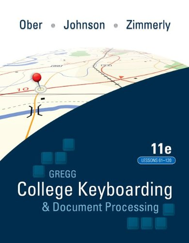 College Keyboading and Document Processing  11th 2011 edition cover