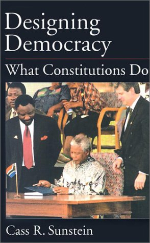 Designing Democracy What Constitutions Do  2002 edition cover