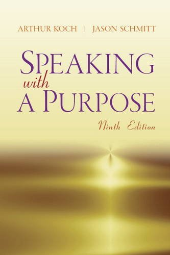 Speaking with a Purpose  9th 2014 (Revised) edition cover