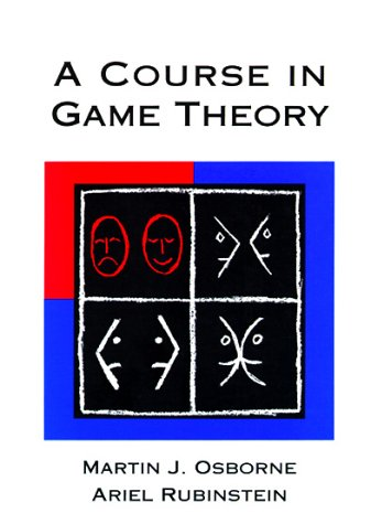 Course in Game Theory   1994 edition cover