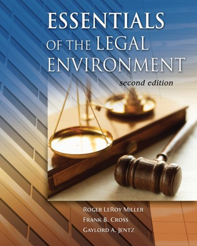 Legal Environment  2nd 2008 (Revised) edition cover